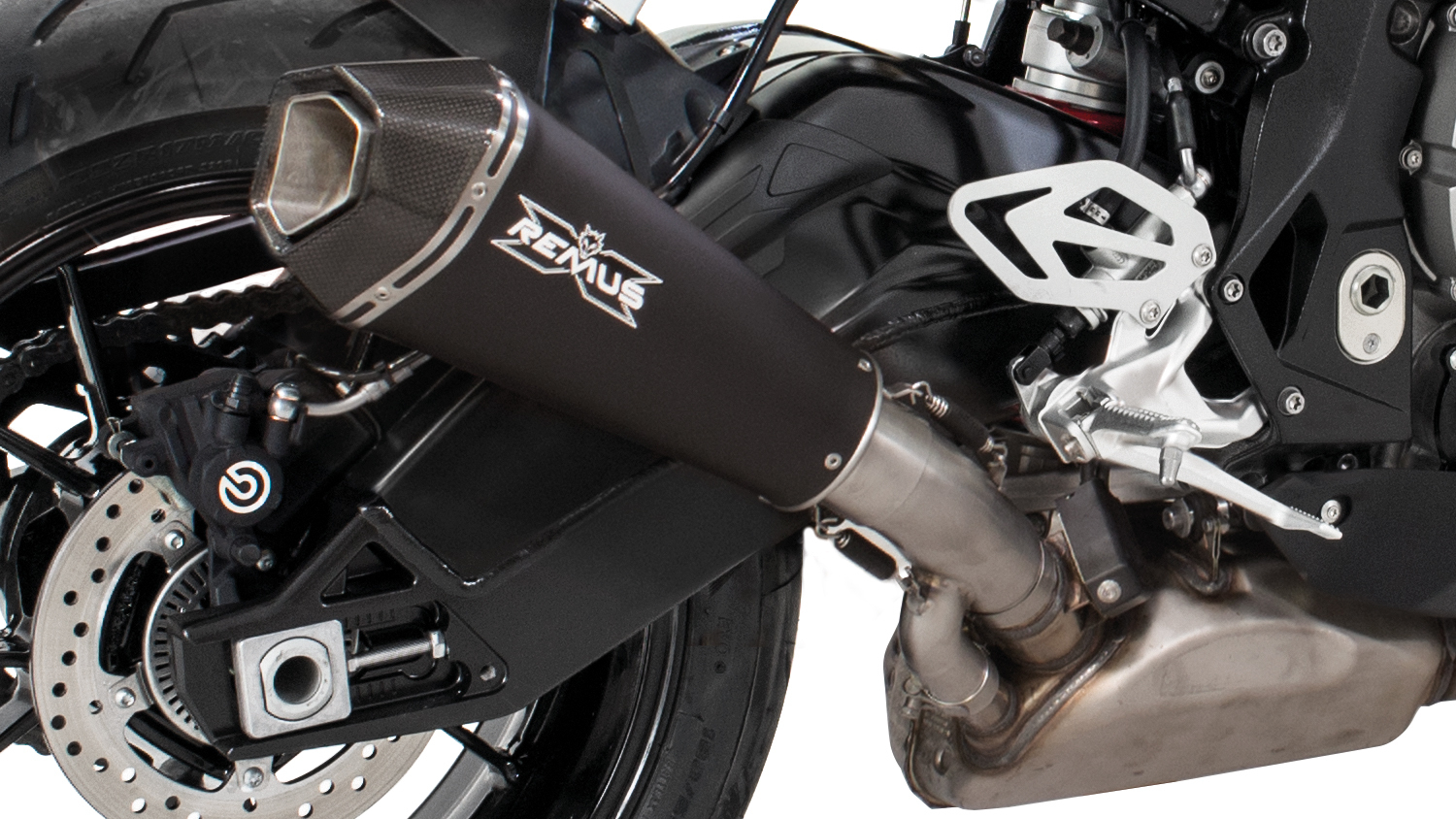 REMUS silencer stainless steel black BMW S 1000 RR from 2017, EEC - Image 2
